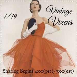 TUESDAY 1/19 Vintage Vixens Sign Up Sheet